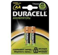 Аккумуляторы Duracell R6, AA 1300mAh (2/20)
