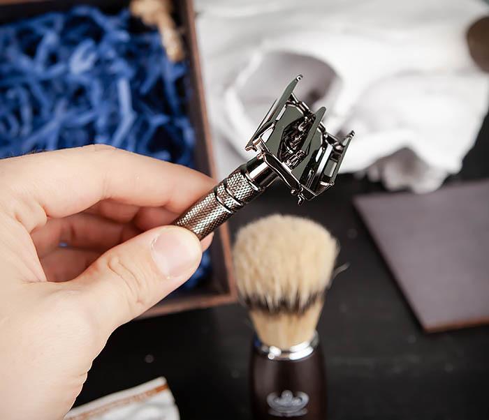 PSET104 Набор для бритья из станка, помазка, подставки и крема фото 07