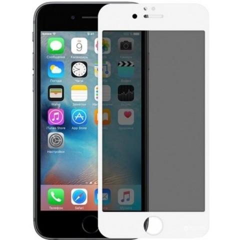 Стекло защитное iPhone 8/7 Plus 2.5D White Privacy Антишпион