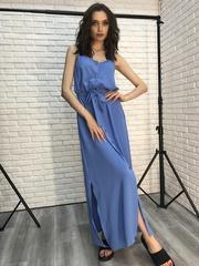 Длинный сарафан голубой Nadya