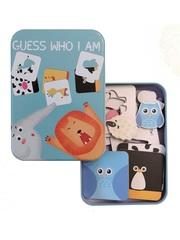 Развивающая игра-пазл SHAPES PUZZLE Животные Серия Угадай Кто Я Такой 24 детали в жестяной коробке