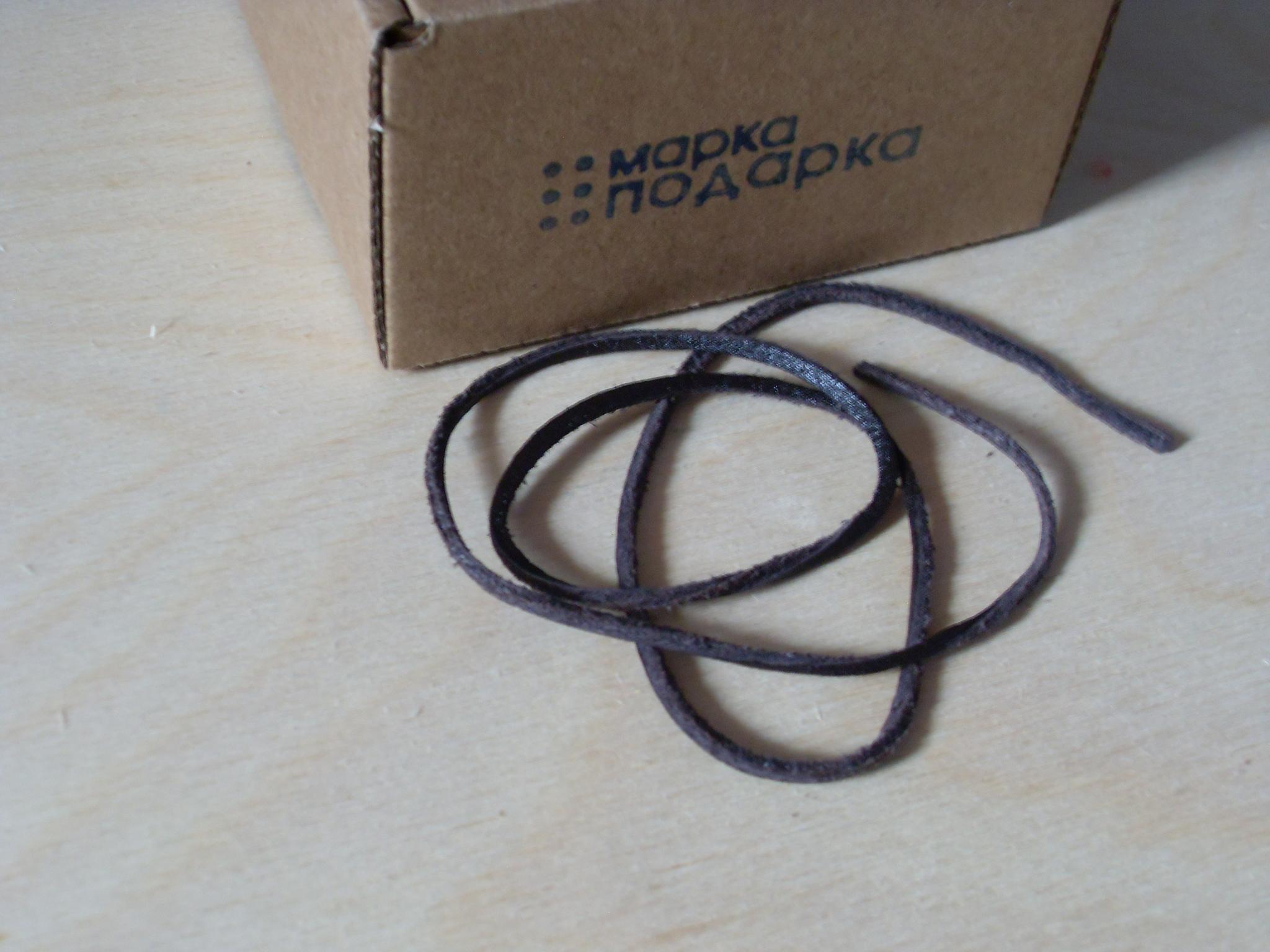 Фото шнурок кожаный 2-3 мм для кулонов 65 см