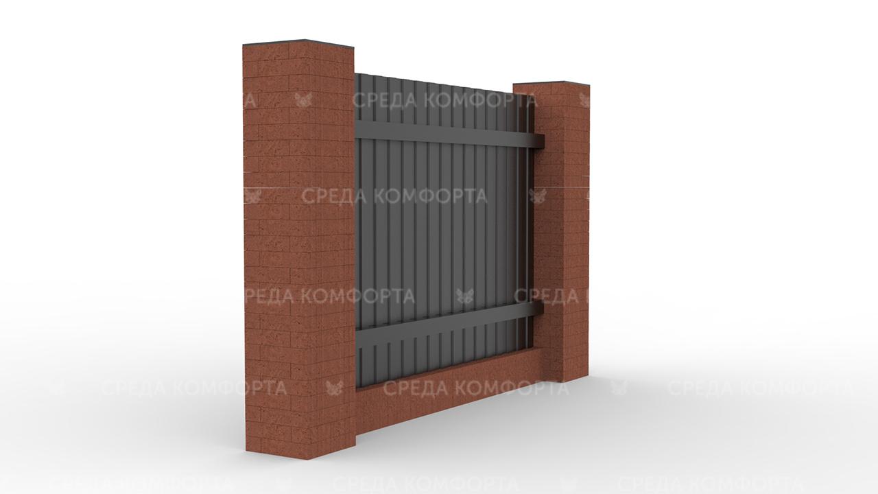Забор из профлиста ZBR0017