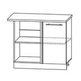Кухня Капля 3D Шкаф нижний угловой проходящий СУ 1000