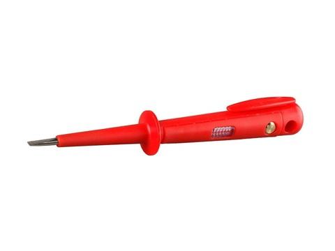 Пробник СВЕТОЗАР электрический, цельнолитой пластмассовый корпус, на карточке, 100-250В, 150мм
