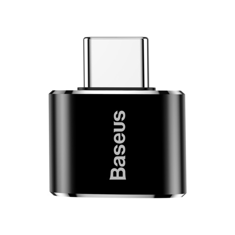 Переходник Baseus USB Female To Type-C Male Adapter Converter Black