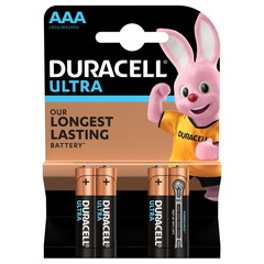 Батарейки Duracell Turbo/Ultra LR03, AAA (4/40) BL