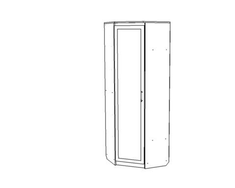 Шкаф ВЕНА угловой с зеркалом /763*2200*763/ левый