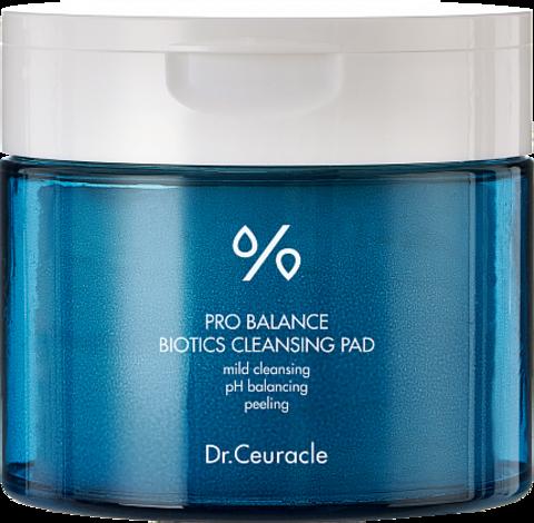 Dr.Ceuracle Пады очищающие с пробиотиками и PHA и LHA кислотами - Pro balance biotics, 60шт
