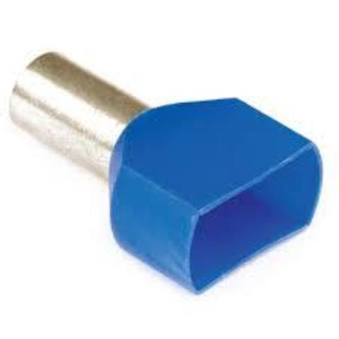 DKC / ДКС 2ART5032BLXL Наконечник-гильза штыревой втулочный, с изолированным фланцем, для сечения провода 0,75мм2, длина контактной части 14мм,для двух проводов, голубой (НШВИ2)