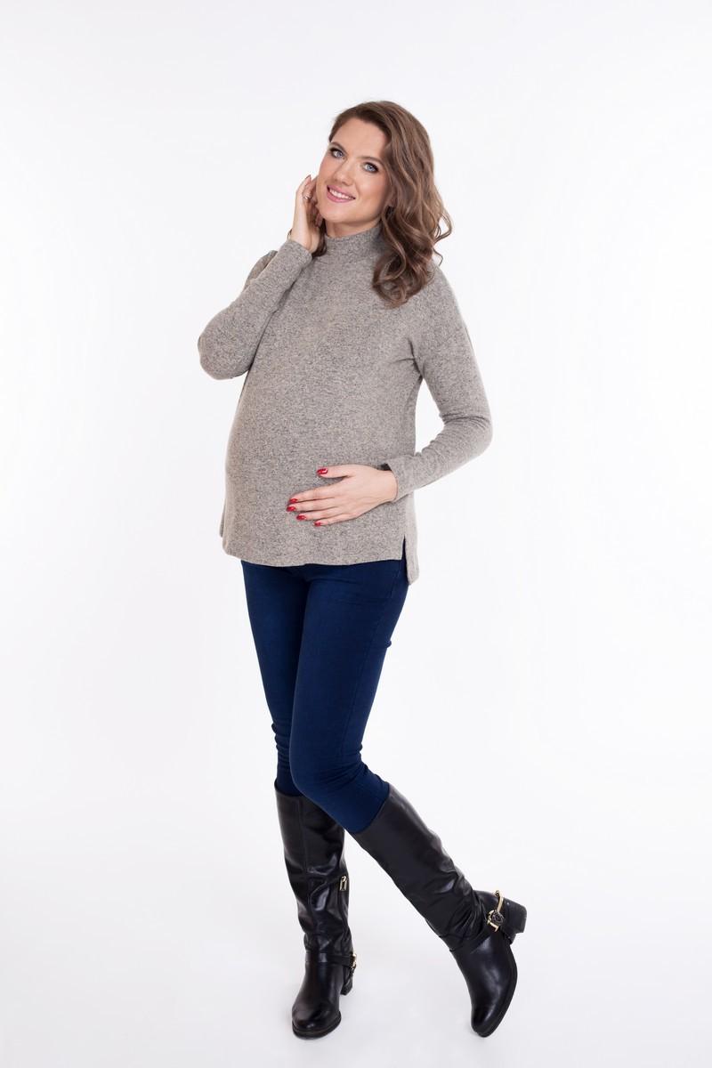Джемпер для беременных 09075 бежевый
