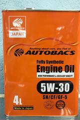 Синтетическое моторное масло Autobacs Fully Synthetic 5W-30 SN/CF/GF-5 4 л