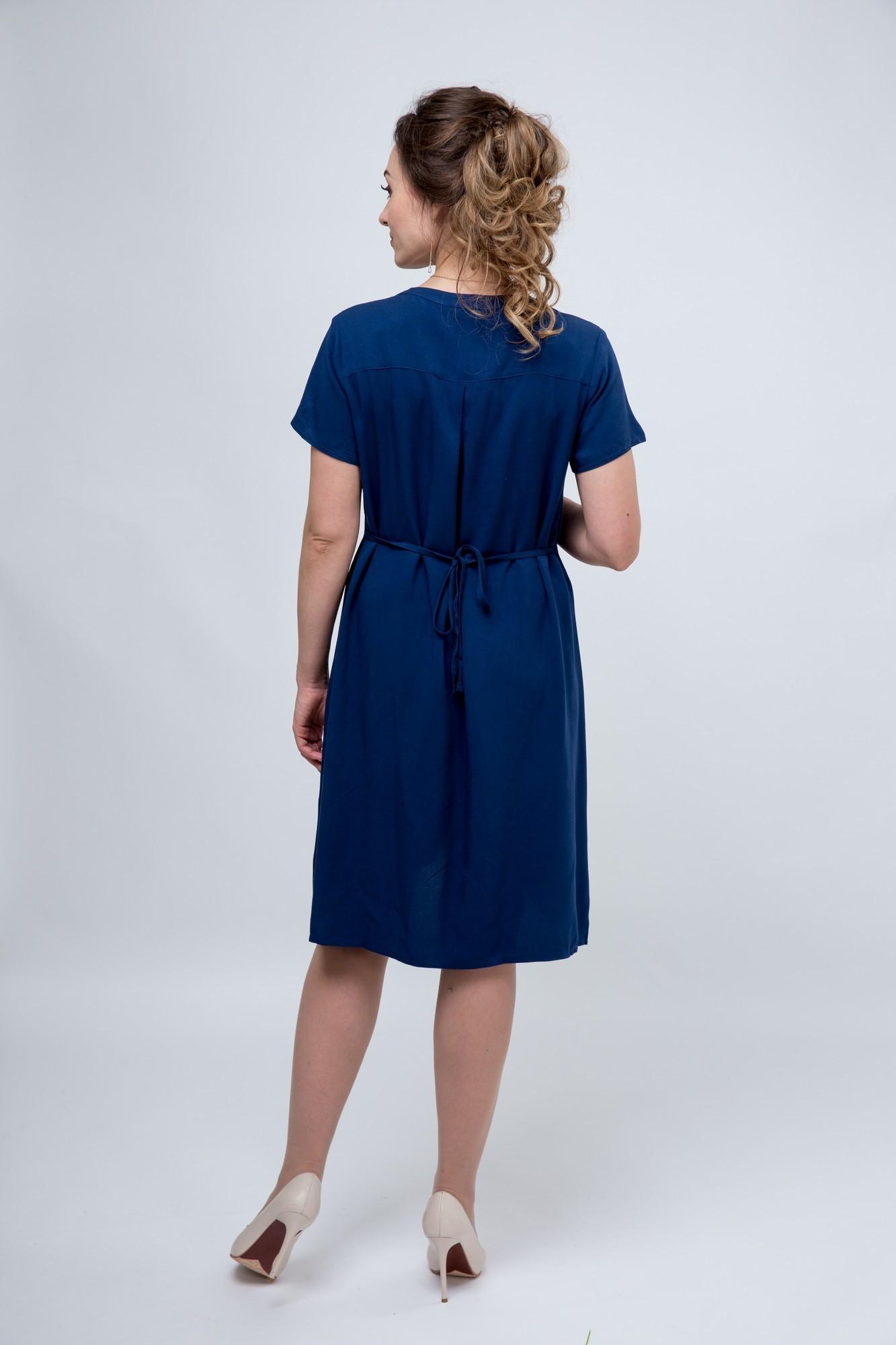 Платье для беременных 07589 светло-синий