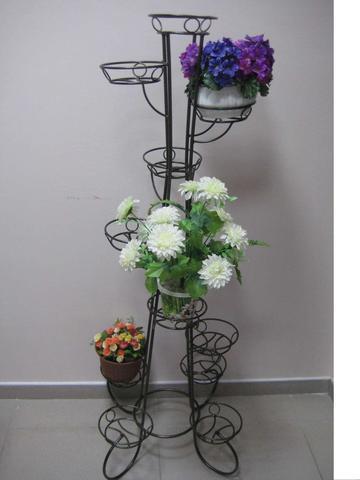 Подставка под цветы Ракета на одиннадцать горшков