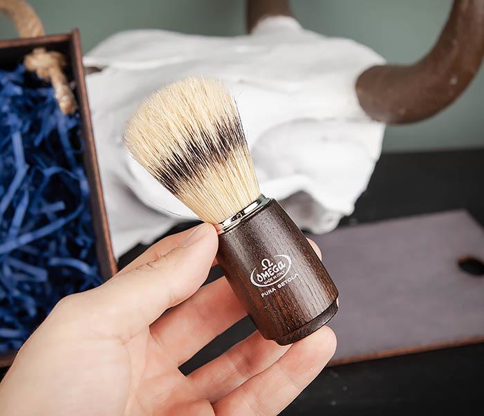 PSET104 Набор для бритья из станка, помазка, подставки и крема фото 09