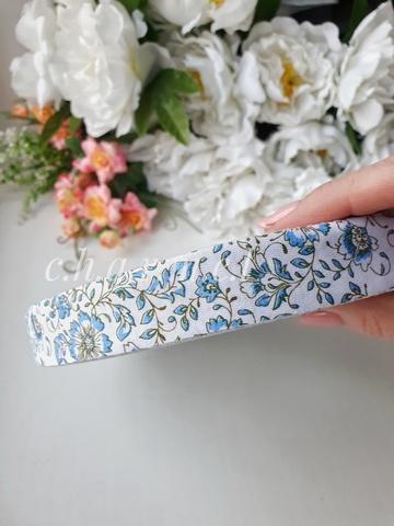 Голубые цветы ролик