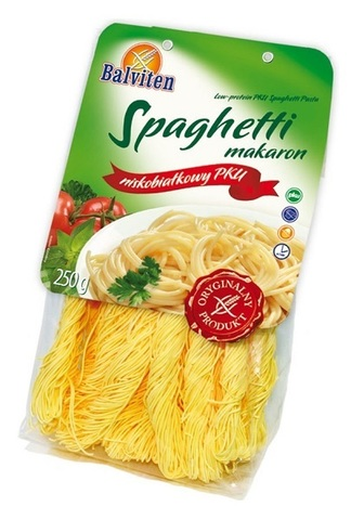 Макароны низкобелк Spaghetti makaron ФКУ 250г Balviten