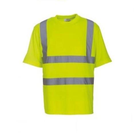 Футболка сигналиста железнодорожника светоотражающая желтая