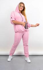 Ембер. Жіночий костюм для прогулянок батал. Пудра.