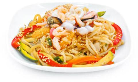 Китайская лапша с морепродуктами