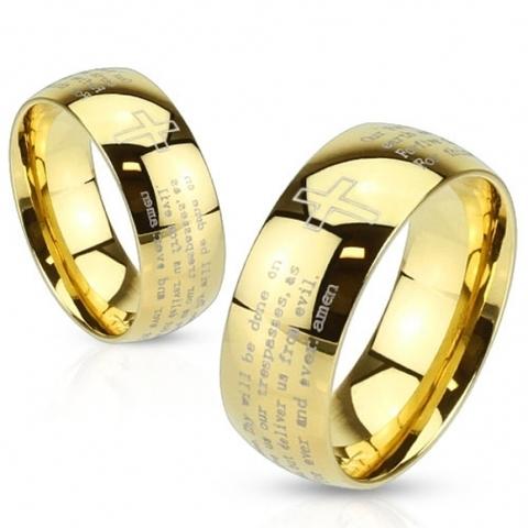 Кольца с молитвой мужские и женские SPIKES R-M2766