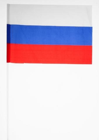 Купить российский флажок на палочке - Магазин тельняшек.ру 8-800-700-93-18Российский флажок на палочке 15х23 см в Магазине тельняшек