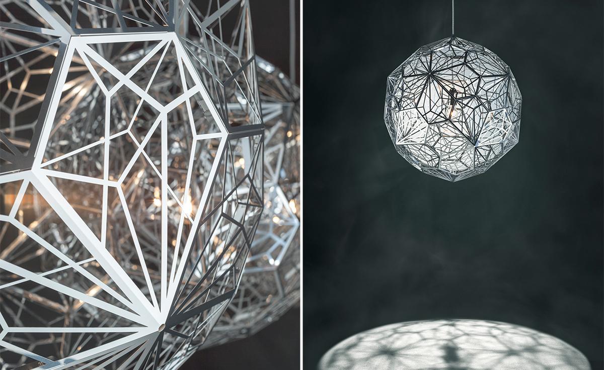Подвесной светильник копия Etch Web by Tom Dixon (серебряный)