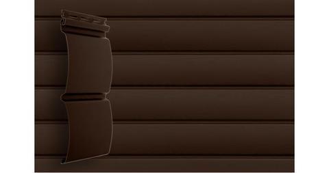 "Акриловый сайдинг Гранд Лайн блок хаус 3.0 D 4,8"" темный дуб"