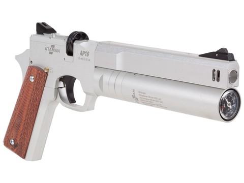 Пневматический пистолет Ataman АР16 Silver стандарт 5,5 мм