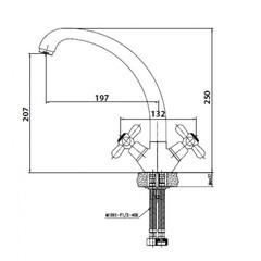 Смеситель KAISER Carlson 11033 для кухни схема