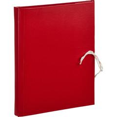 Папка архивная Attache А4 из бумвинила красная 30 мм (складная, 4 х/б завязки, до 250 листов)