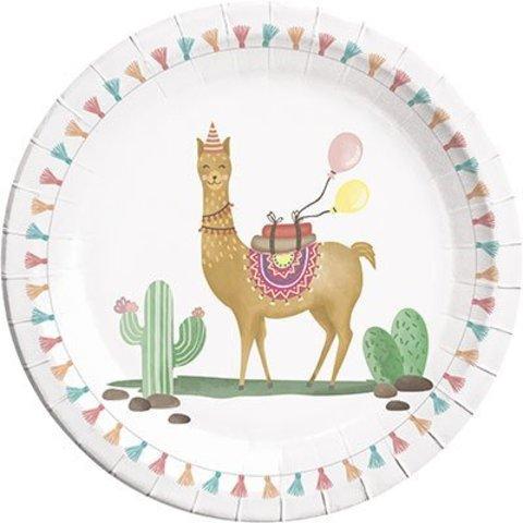 Тарелки Лама, 8 штук