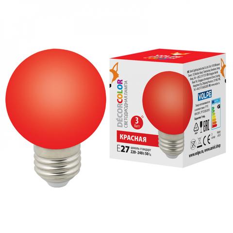 LED-G60-3W/RED/E27/FR/С Лампа декоративная светодиодная. Форма