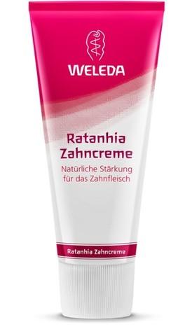Weleda, Растительная зубная паста Ратания, 75мл