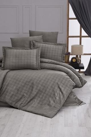 Комплект постельного белья DO&CO Сатин  жаккард  EXCLUSIVE 200*220 (50*70/2) (70*70/2) 250TC DARCELL цвет коричневый