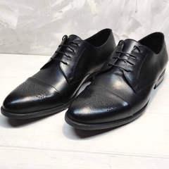 Кожаные туфли черные мужские Ikoc 2249-1 Black Leather.