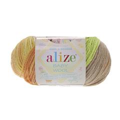 Baby Wool  batik 5559 (Латте, капучино, салат, желтый, охра)