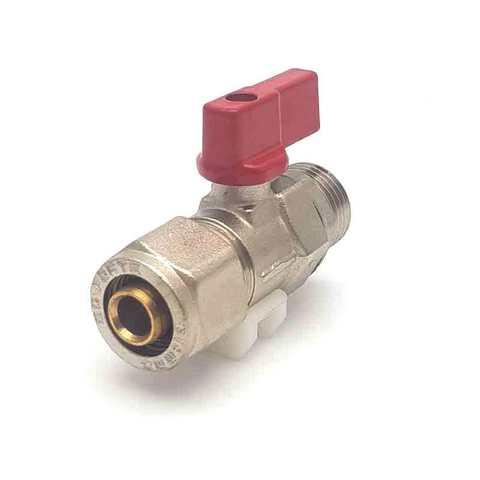 Кран шаровой для металлопластиковых труб  16х1/2 с наружной резьбой SD Forte