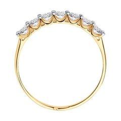 017833 - Кольцо-дорожка из золота с фианитами SWAROVSKI
