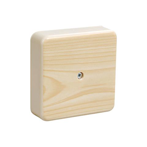 Коробка распаячная КР 75х75х28 ОП сосна IP40, инд. штрихкод TDM