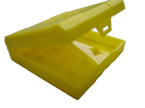 Кейс Chibby Gorilla для четырёх 18650 жёлтый