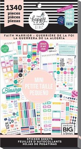 Блокнот со стикерами для ежедневника Create 365 Happy Planner Sticker -Faith Warrior Mini - 1340шт