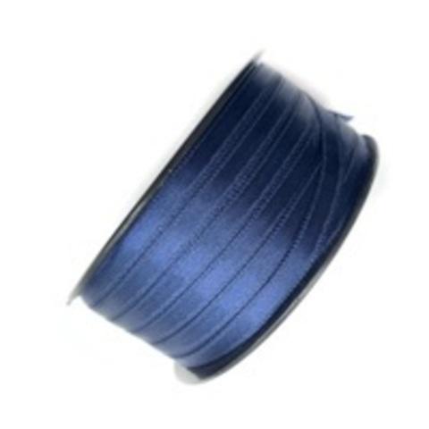 Атласная лента 6 мм, синяя