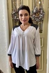 Люсія. Красива нарядна жіноча блуза. Білий