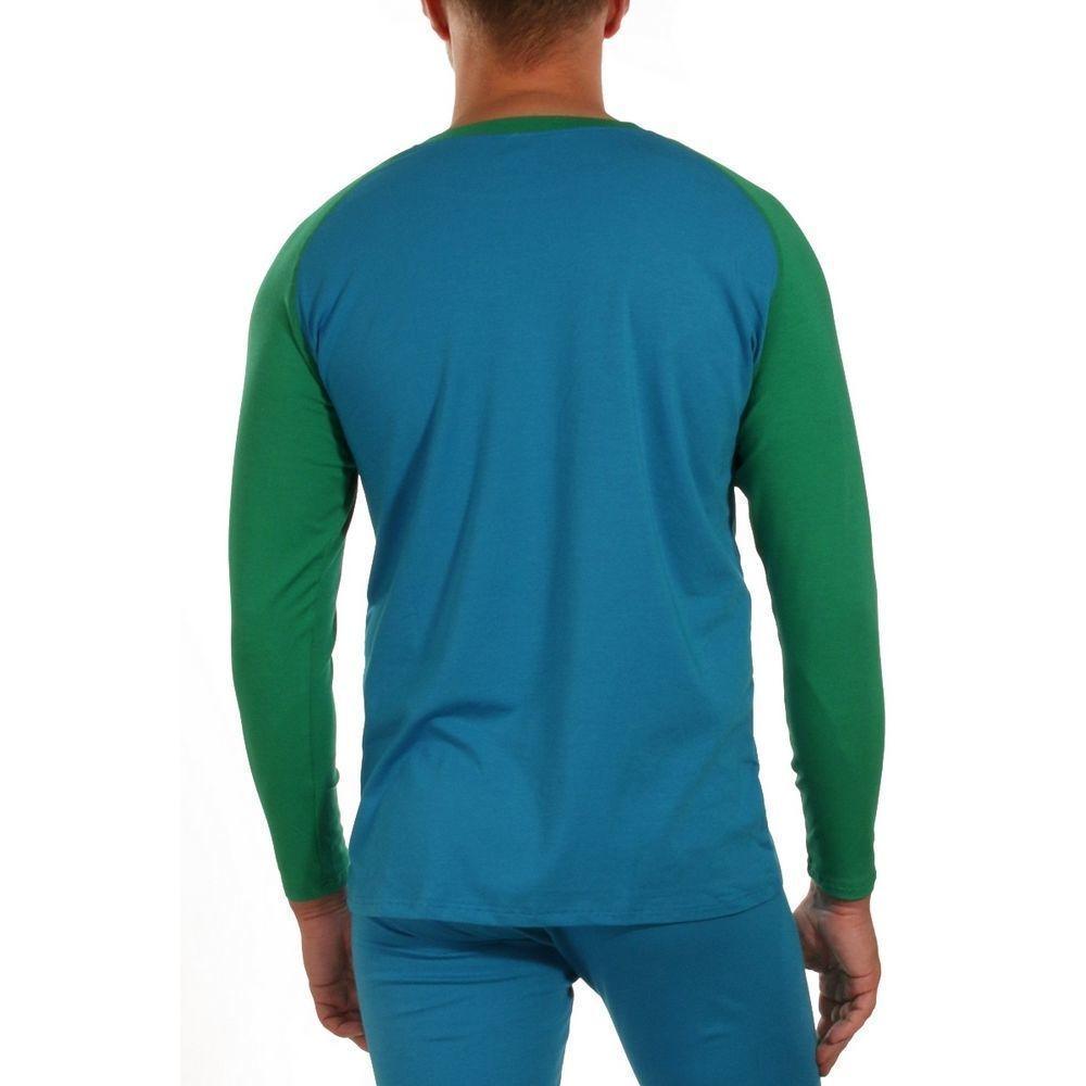 Мужской комплект (кальсоны и футболка) синий WANG JIANG
