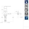 Встраиваемы смеситель для биде YPSILON PLUS SA6423 - фото №2