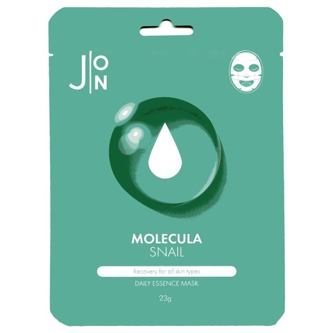 J:ON Тканевая маска с муцином улитки Molecula Daily Essence Mask Snail, 1 шт