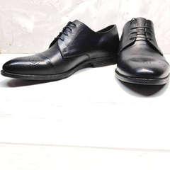 Классические туфли мужские кожаные Ikoc 2249-1 Black Leather.