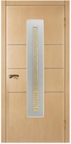 Дверь Валетта (стекло сиртаки серебро) (беленый дуб, остекленная ПВХ), фабрика Зодчий
