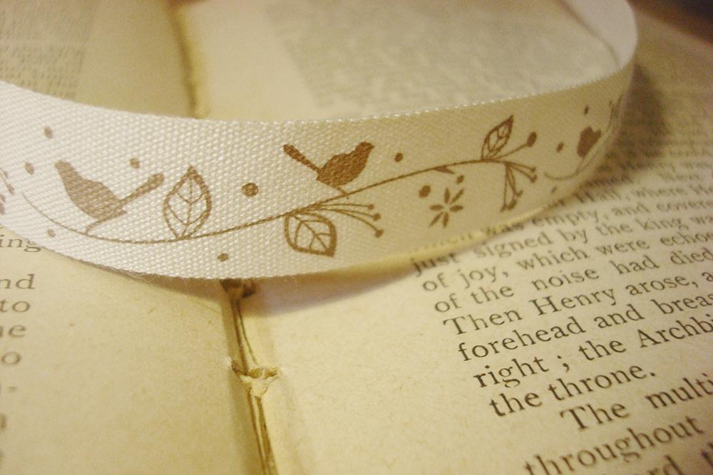 Тесьма декоративная с рисунком «Птички»